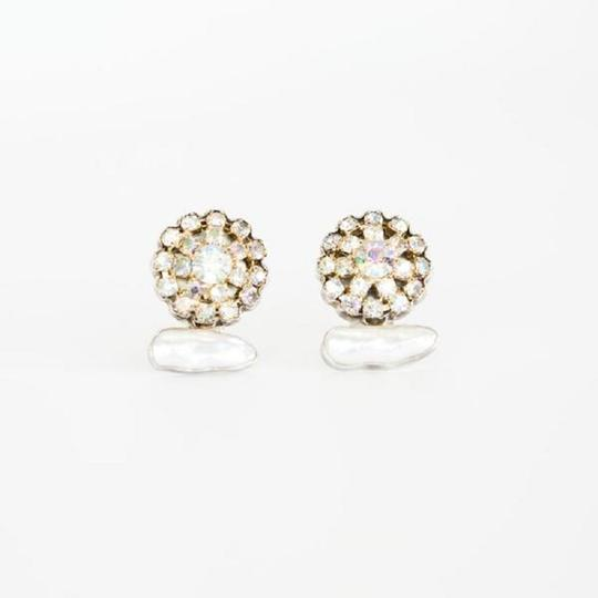 Rebecca Collins Pearl and Rhinestone Earrings