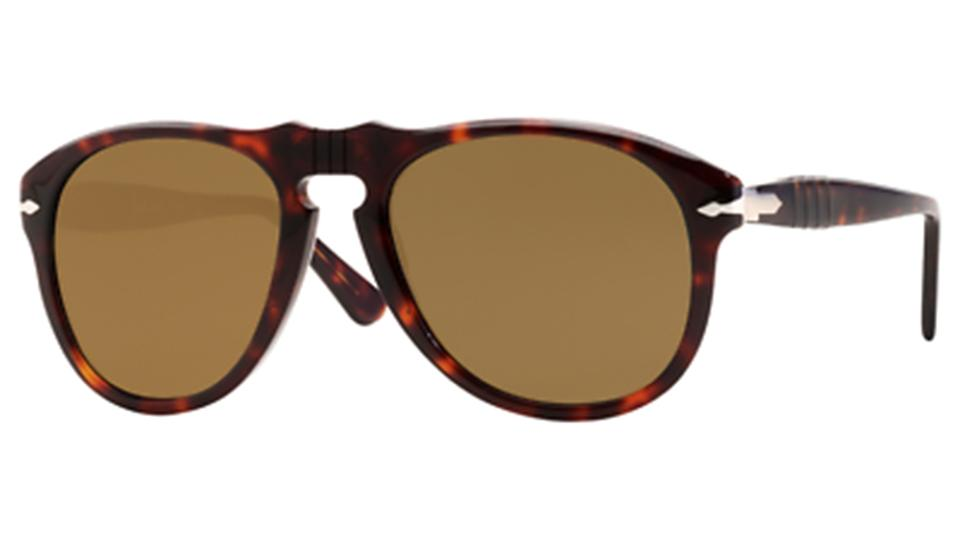 a435794f20 Persol New Persol Unisex Oval Sunglasses PO0649 24 57 Havana Frame Brown  Lens ...