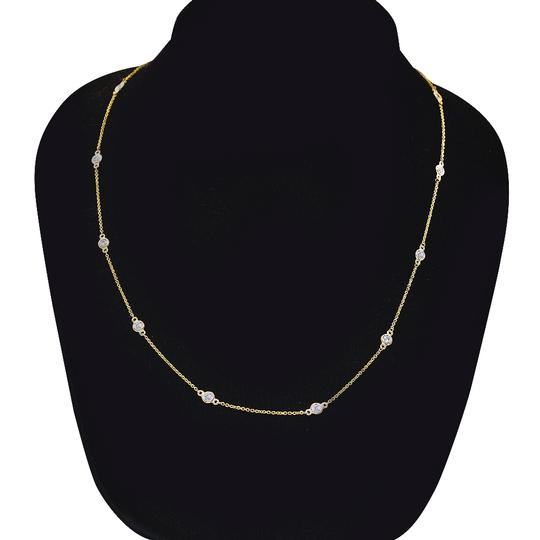Avital & Co Jewelry 0.90 Carat Round Diamonds By The Yard Necklace In 14K Yellow Gold