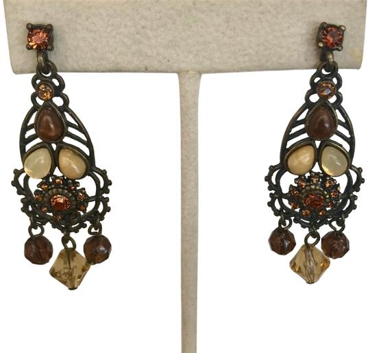 Preload https://img-static.tradesy.com/item/23142540/bronze-brown-amber-cream-orange-tigers-eye-glass-rhinestone-chandelier-drop-earrings-0-1-540-540.jpg