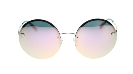 Versace Versace Women Sunglasses VE2176 10005R Silver Grey Mirror Pink Lens