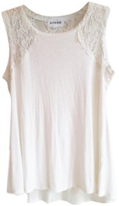 Olive + Oak Shell Spring Summer Rayon Stretchy Top White
