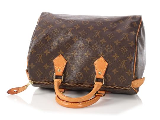 Louis Vuitton Gold Hardware Lv.l1220.16 Leather Duffle Satchel in brown