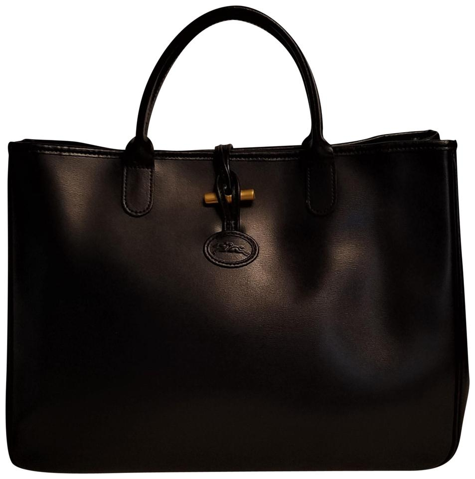 Longchamp Ships In 24 Hours Cur Msrp Roseau Per Tote Black