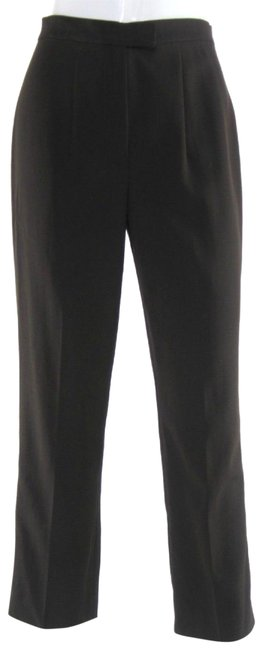 Gunex Wool Made In Italy Straight Leg Tailored Career Trouser Pants Brown