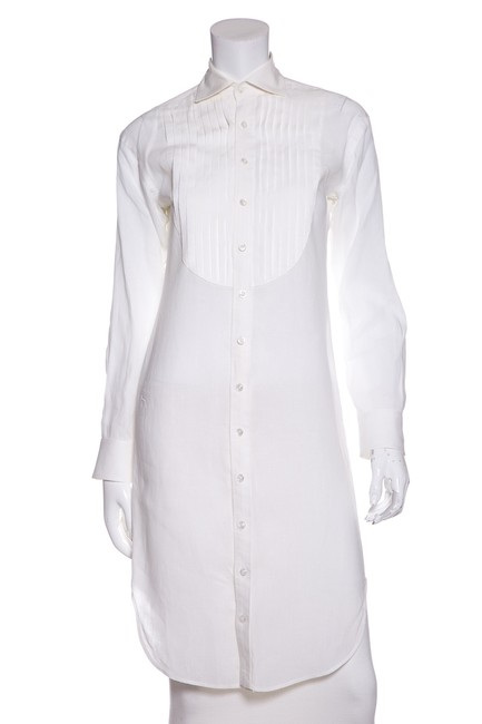 Preload https://img-static.tradesy.com/item/23142640/ralph-lauren-collection-white-pleat-detail-tunic-size-2-xs-0-0-650-650.jpg