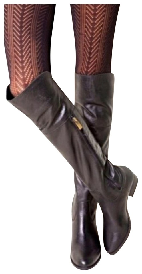 Dolce Leather Vita Lightly Textured Black Leather Dolce Otk Boots/Booties e2440e