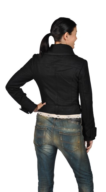 Runway Fashion Wool Black Jacket