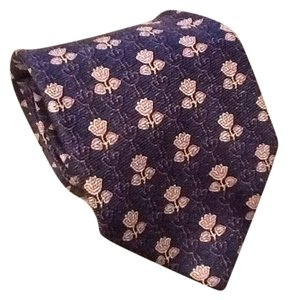 Burberry BURBERRY LONDON SILK PURPLE FLOWER NECK TIE
