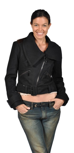 Preload https://img-static.tradesy.com/item/23142707/black-womens-cropped-belted-waist-wool-jacket-size-12-l-0-0-650-650.jpg