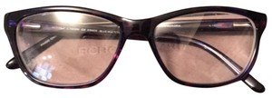 BCBGMAXAZRIA Purple, simple cat eye; eyeglasses