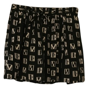 Madewell Fun Summer Mini Pockets Mini Skirt Black & Beige