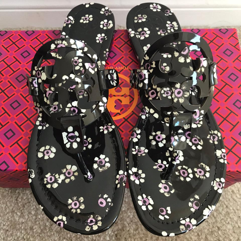 eb03c8407 Tory Burch Multicolor 8.5m Miller Printed Patent Sandals Size US 8.5  Regular (M