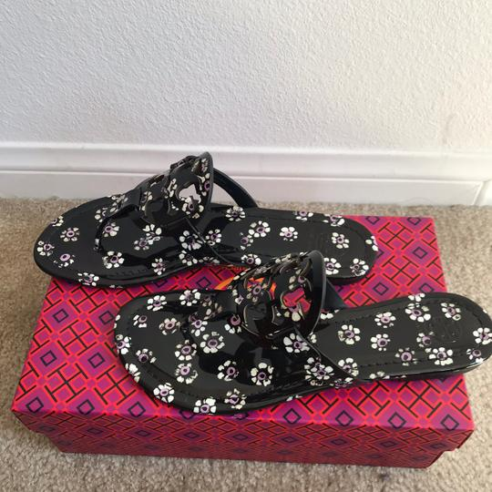 Tory Burch Miller Thong Leopard Multi Sandals