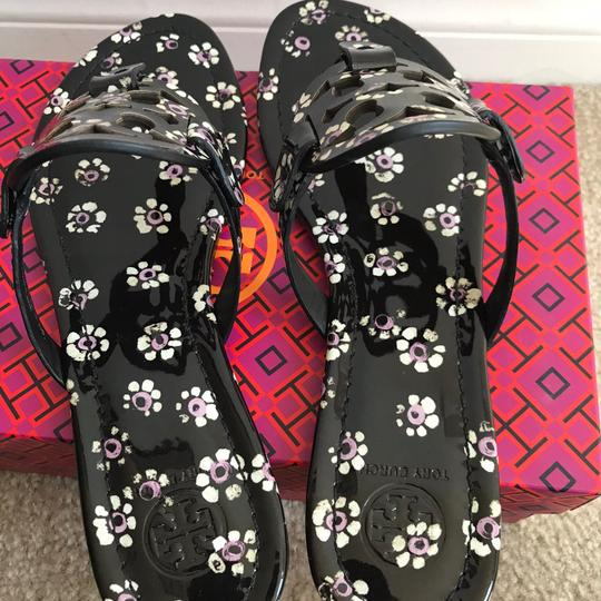 7bfc9452c Tory Burch Multicolor 8.5m Miller Printed Patent Sandals Size US 8.5 ...