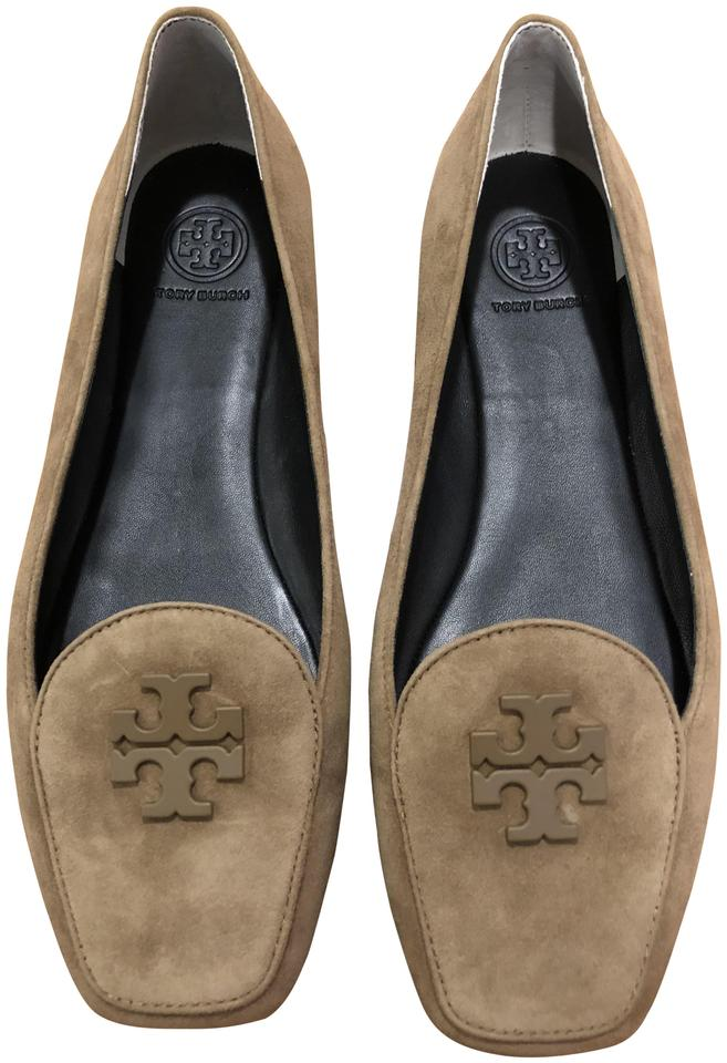 4de989268c3012 Tory Burch Beige Fitz Loafer - Kid Suede Flats Size US 8 Regular (M ...