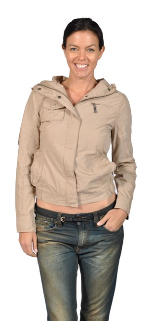 Jou Jou Fashion Hooded Camel Jacket