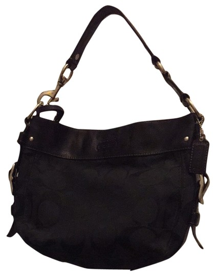 Preload https://item3.tradesy.com/images/coach-zoe-black-leather-and-canvas-shoulder-bag-2314292-0-0.jpg?width=440&height=440