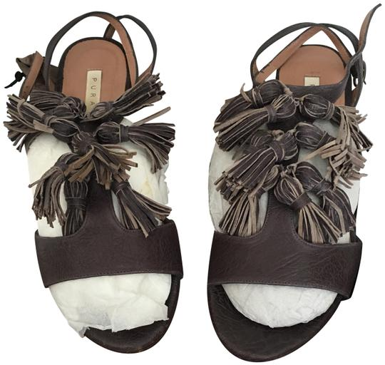 Preload https://img-static.tradesy.com/item/23142926/pura-lopez-chocolate-brown-tassel-sandals-size-eu-38-approx-us-8-regular-m-b-0-1-540-540.jpg