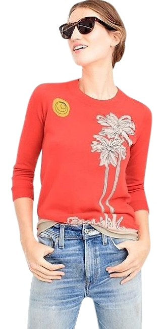 Preload https://img-static.tradesy.com/item/23142961/jcrew-in-embroidered-palm-trees-sweaterpullover-size-2-xs-0-1-650-650.jpg