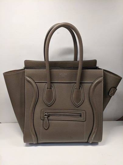 Céline Micro Luggage Tote in Olive / Souris