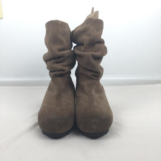 Antelope Anthropologie Distressed Slouchy Tan Boots