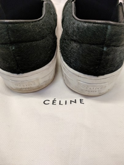 Céline Sneakers Slide On Pony Hair Hunter Green Athletic
