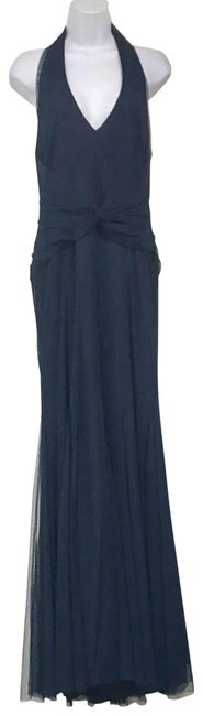 Preload https://img-static.tradesy.com/item/23143013/vera-wang-navy-halter-evening-gown-long-cocktail-dress-size-10-m-0-2-650-650.jpg