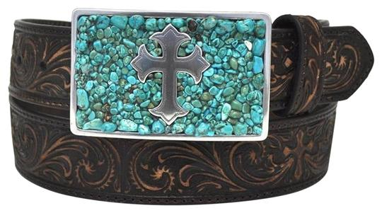 Preload https://img-static.tradesy.com/item/23143031/nocona-turquoisebrown-cross-m-buckle-scroll-embossed-leather-belt-0-1-540-540.jpg
