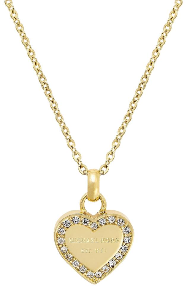 clear asp necklace sell discounted gold rose disc brilliance michael kors pave pendant crystal buy