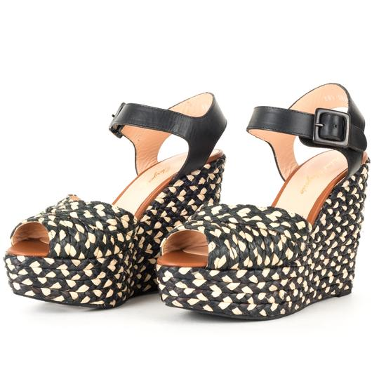 Robert Clergerie black Wedges