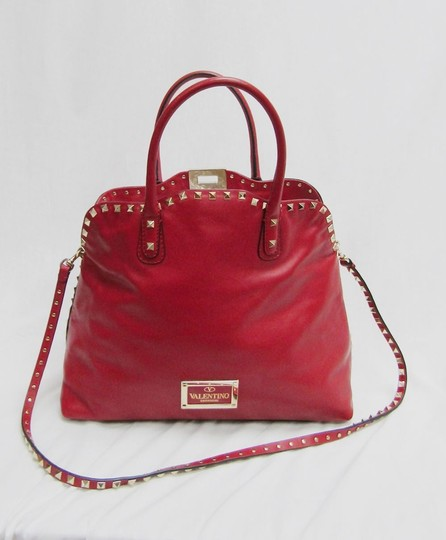 Valentino Leather Studs Dome Shoulder Bag