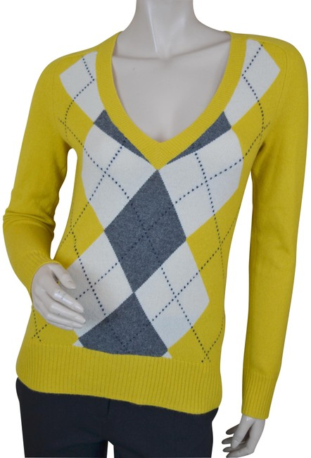 Preload https://img-static.tradesy.com/item/23143217/jcrew-mustard-yellow-argyle-cashmere-sweaterpullover-size-2-xs-0-1-650-650.jpg
