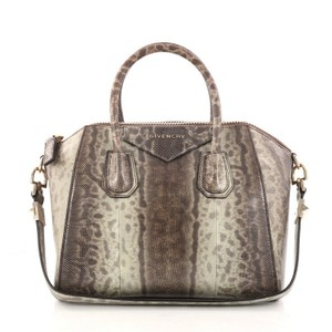 Givenchy Snakeskin Tote in Brown