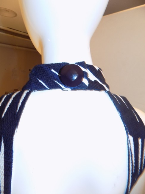 MILLY short dress Black Blue white New Backless on Tradesy
