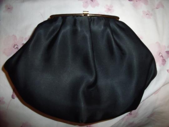 VINTAGE Handbag Prom Pinup Model Metal Black Clutch