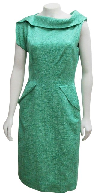Preload https://img-static.tradesy.com/item/23143283/oscar-de-la-renta-green-jade-textured-sheath-asymmetrical-cowl-short-formal-dress-size-8-m-0-1-650-650.jpg