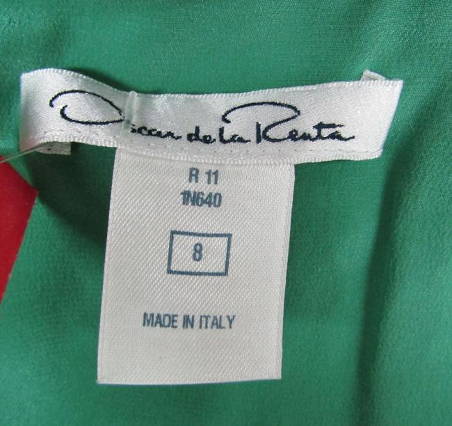 Oscar de la Renta Jade Cowl Cotton Silk Dress