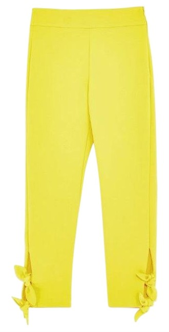 Preload https://img-static.tradesy.com/item/23143338/zara-yellow-high-waisted-with-bows-at-hem-pants-size-8-m-29-30-0-3-650-650.jpg