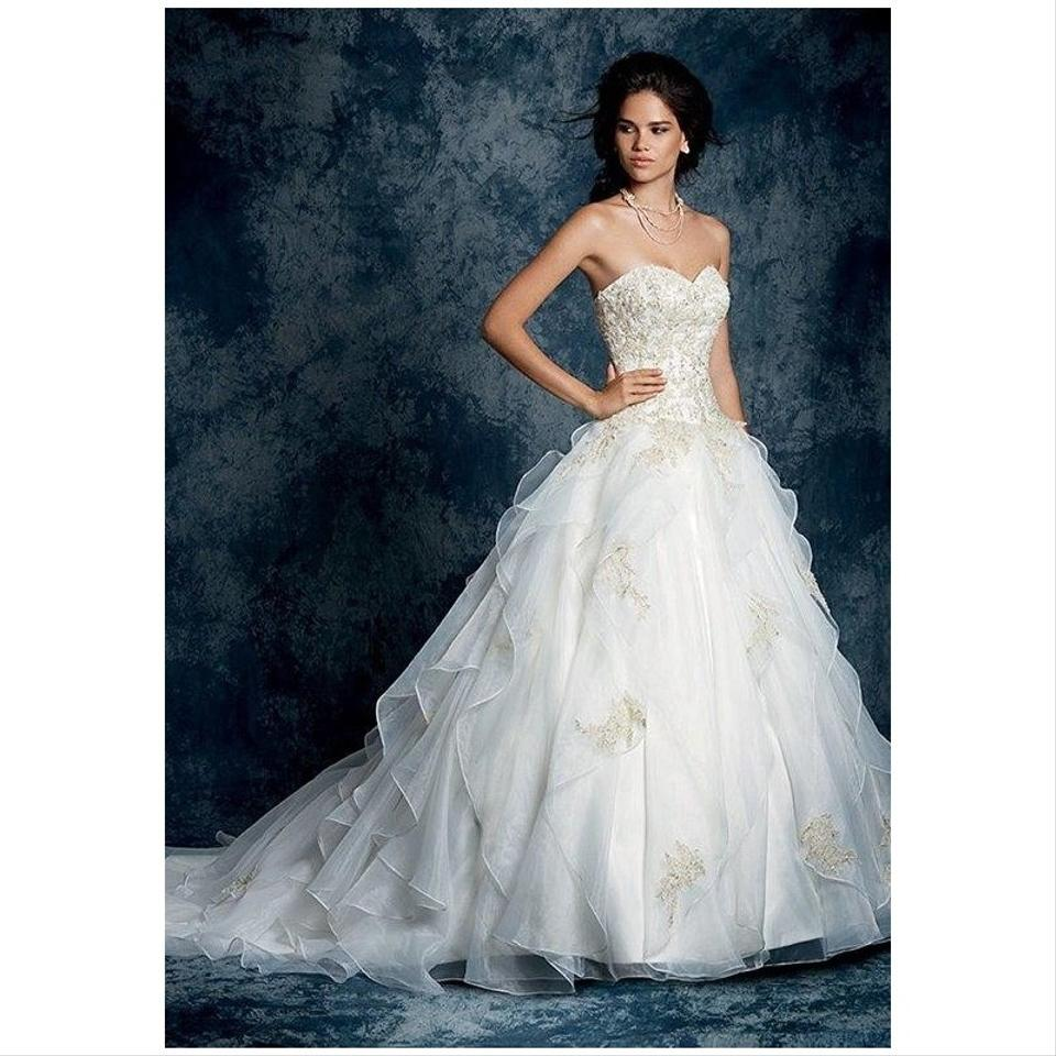 Alfred Angelo: Alfred Angelo Ivory Organza 899 Formal Wedding Dress Size