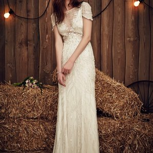 Jenny Packham Ss17 Nashville Feminine Wedding Dress Size 12 (L)