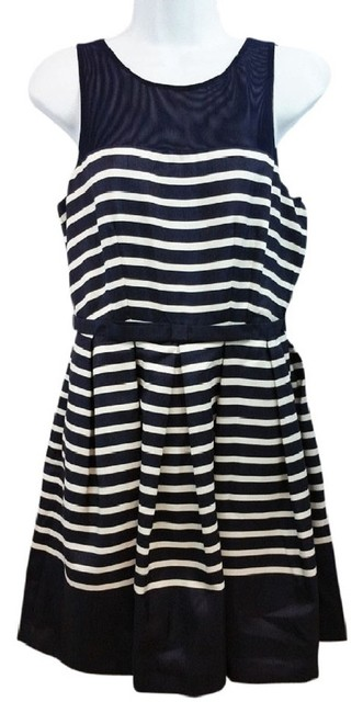 Preload https://img-static.tradesy.com/item/23143505/taylor-navy-and-white-stripes-fit-and-flare-short-casual-dress-size-6-s-0-0-650-650.jpg