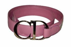 Dior Christian Dior Pink Leather Women's Belt Size 80