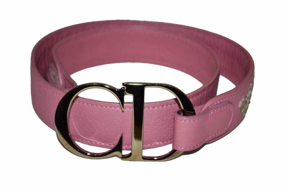 d522ca71d0d Dior Christian Dior Pink Leather Women's Belt Size 80 Image 0 ...