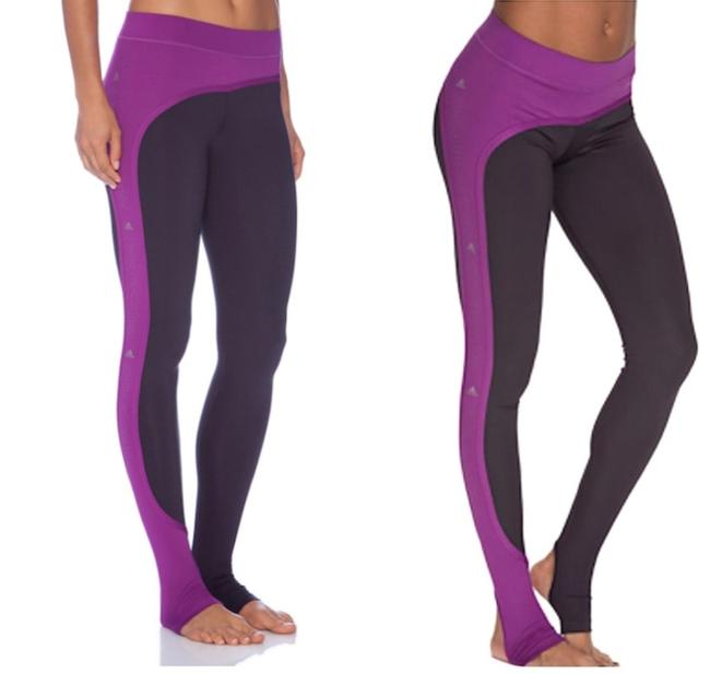Item - Purple Studio Perforated Tights In Dark Space & Pop Activewear Bottoms Size 2 (XS, 26)