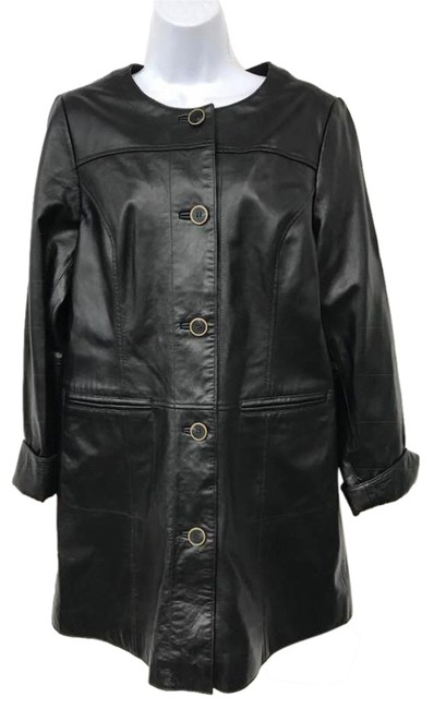 Preload https://img-static.tradesy.com/item/23143643/black-animal-print-lined-long-leather-jacket-size-8-m-0-2-650-650.jpg