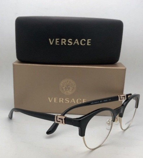 Versace New VERSACE Eyeglasses MOD 3233-B GB1 49-20 140 Black & Gold Frames