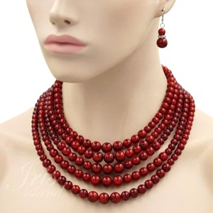 Other demureby j Red Pearl Necklace
