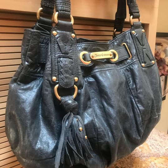 Juicy Couture Leather Distressed Gold Hobo Bag