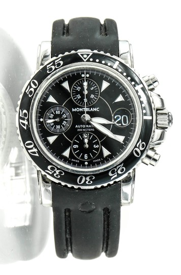 Preload https://img-static.tradesy.com/item/23143711/montblanc-stainless-steel-and-black-rubber-reference-7034-sports-chronograph-diver-s-watch-0-0-540-540.jpg